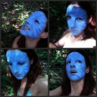 Final Neytiri makeup test by Official-AmyFantasy