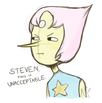 Lemongrab cosplaying Pearl by AstridWilson