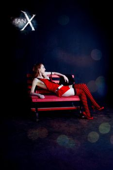 The Girl on the Red Bench III by KaitlynxCross