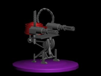 Sentry Gun render by VentianLane