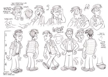 August model sheet by Granitoons