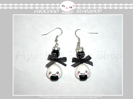 Japan Life - Earrings Onigiri by AyumiDesign