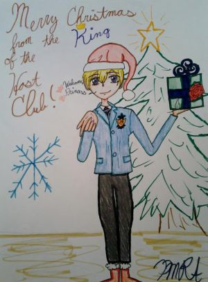 Tamaki X Reader Christmas in music room 3 by Mickxbeth2012