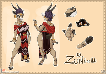 Zuni Ref Sheet by atryl