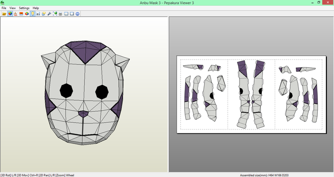 Anbu Mask (3) Papecraft [DOWNLOAD] by SIBOR270898