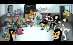 Henchmen Group Therapy with Dr. Katz by xeternalflamebryx