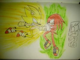 PREVIEW!! The Great Showdown! Sonic VS Knuckles!! by KuraiJinx