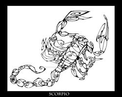 Inkblot Scorpio by ChimeraDreams