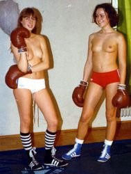 The best boxing attire ever...Angie vs Ute by freddobbs