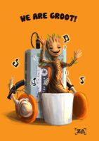 Dancing Groot! by ZLynn
