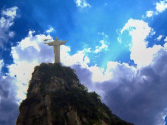 Cristo redentor y Helicoptero by Franktripper