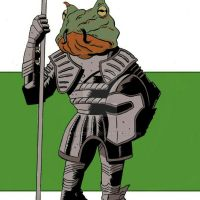 bullfrog prince in shining armor by D34THM3T4L