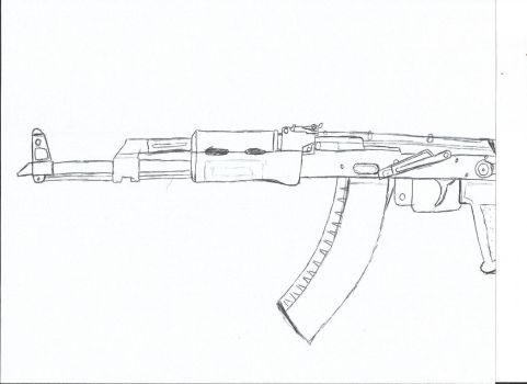 AKM Hand Drawn by Obnasious