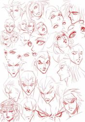 heads  eyes practice by xong