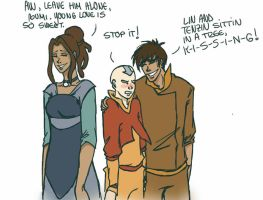 Lin and Tenzin sitting in a tree... by LilyScribbles