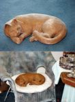 My cat woody by NMWoodcarver