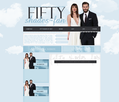 Fifty shades of Grey layout by VelvetHorse