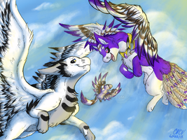 Art Trade~ Spreading Wings by Pokelobo
