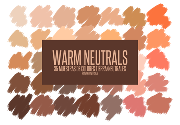 Muestras Warm Neutrals (aco) by runawaybitches