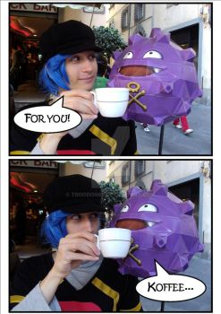 Koffing loves Coffee by Troodon88