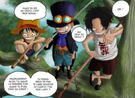 One piece Luffy Ace Sabo by Leackim7891