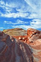 REDUX : Geo Cream Swirl II - Valley of Fire, NV by wondrousbutstrange