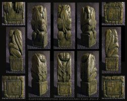 Carved Cthulhu Idol - complete by CopperCentipede