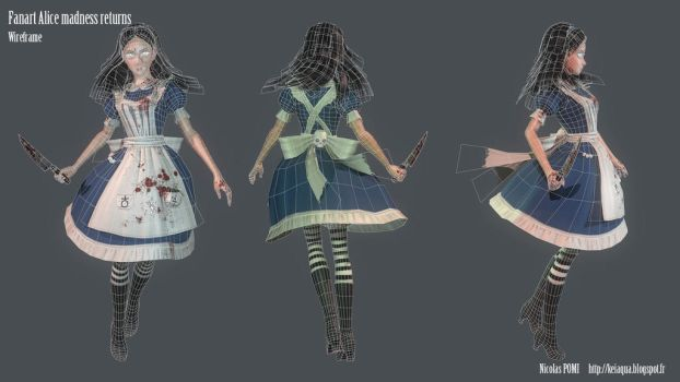 Alice madness returns Wireframe by Keiaqua
