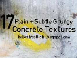 17 Plain and Subtle Grunge Concrete Textures by hellostreetlight