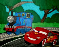 Crossover Racing by InkArtWriter