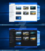 Windows 10 File Explorer Dark - Light Mode Concept by armend07