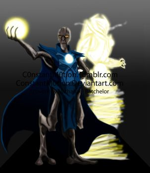 Commission: Mazza and the Avatar of Light by ConstantScribbles