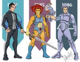 Leading Men of 80s Cartoons by valkardy