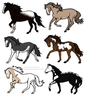 Horse adopts -OPEN- (3/6) by Mini-Luicifer