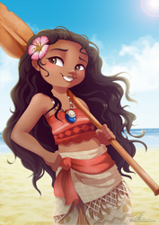 I am Moana by DVixie