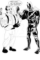 Random Prompt: Black Panther Ghost Buster by IngDamnit