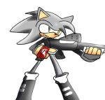 Somber The Hedgehog has a shot gun by zeromythos5