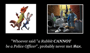 Rabbit Cop Motivational by MetroXLR