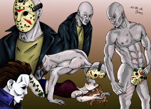 4 Jasons and a Michael by Zombilein