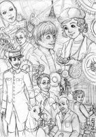The invention of Hugo Cabret . SKETCH by Daishota