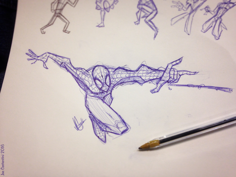 Spidey Sketch #129 by JoeCostantini