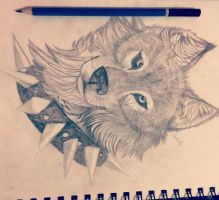 Wolf drawing (traditional test) by XxPeacefulChaosxX