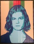 Borns - Blue Madonna duct tape portrait by TheDucttapeBassist