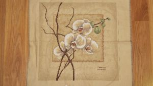 Orchid Cross Stitch - FINISHED by SorrowsMadness