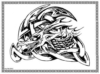 Celtic Dragon: As Celtic knot or infinite knot by Ysydora
