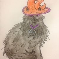 Halloween cat by Itchywitchygirl