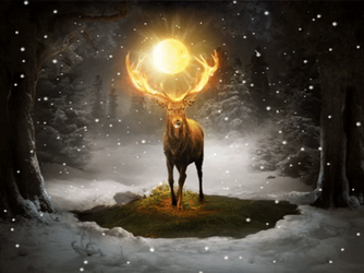 Fire deer - Animated Version by TimTaller