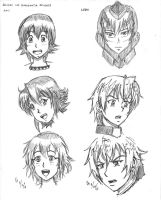 Suisei No Gargantia studies - Amy, Ledo by mayorlight
