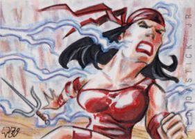 Elektra Feels the Force by tdastick