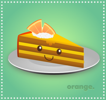 Slice of Orange Cake by wildgica